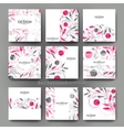 floral ornament brochure template Flyer vector image