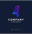 4 company logo design vector image vector image