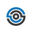 abstract circle company logo vector image vector image