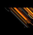 abstract yellow orange grey cyber circuit on black