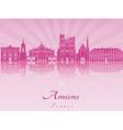 Amiens skyline in purple radiant orchid vector image vector image