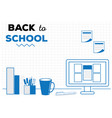 back to school background with workspace vector image