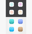 big set app icon template with guidelines fresh vector image vector image