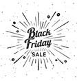 black friday vintage sign vector image vector image