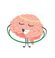 brain charactersathlete gymnast making sport vector image vector image