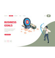 business goal manager archer holding bow vector image vector image