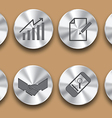 business steel icon vector image vector image