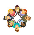business team - cartoon people character isolated vector image