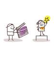 cartoon characters and cinema vector image