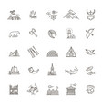 city sights icons norway landmark vector image vector image