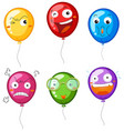 colorful balloons with different facial vector image vector image