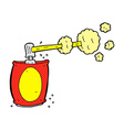 comic cartoon aerosol spray can vector image vector image