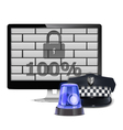 Computer Security Concept vector image vector image