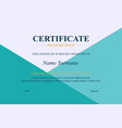 creative certificate appreciation award vector image vector image