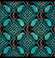elegance geometric seamless pattern black vector image vector image