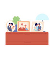 family portraits in frames couple children photo vector image vector image