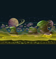 fantasy space seamless game landscape planet game vector image vector image