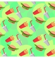 Fast food seamless pattern with cheeseburgers vector image vector image