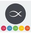 Fish single icon vector image vector image