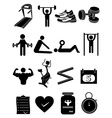 Fitness healthcare icons set