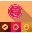 flat confectionary design vector image
