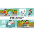 flat maternity and pregnancy composition vector image vector image