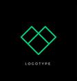 geometric shape letter v line monogram vector image vector image