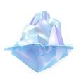 glacier iceberg float on ocean water waves vector image