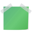 green post it vector image vector image