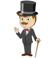 greeting gentlemen vector image vector image
