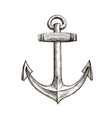Hand drawn sketch anchor vector image vector image