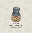 happy halloweentrick or treat background vector image vector image