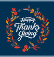 happy thanksgiving typography poster celebration vector image vector image