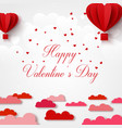 happy valentines day greetings card with realistic vector image