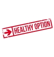 Healthy option stamp vector image vector image