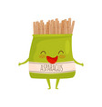 humanized soy asparagus packaging healthy food vector image vector image
