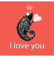 in love with a chameleon vector image