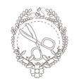 isolated scissor tool tailor shop design vector image