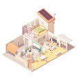 isometric house cross-section vector image