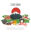 Japanese tradition Symbols Poster vector image vector image
