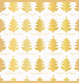 luxe gold christmas trees pattern seamless vector image