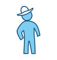 man silhouette hat vector image
