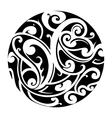 Maori circle tattoo vector image vector image
