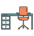 office desk with chair vector image