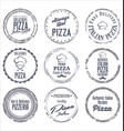 pizza labels vector image vector image