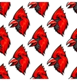 Red cardinal bird seamless pattern vector image vector image