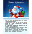 Santa Claus standing in the snow vector image vector image