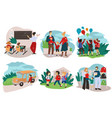 school and education parents and children vector image