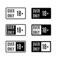 Set icons over only vector image vector image