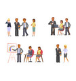 set of business meetings concept vector image vector image
